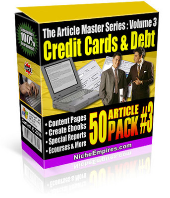 Product picture Bumper Pack of Credit Card PLR- Books & Articles